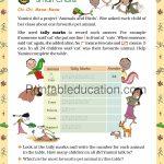 Class 5 five Chart worksheet a