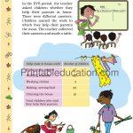 Class 5 five Chart worksheet d
