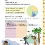 Class 5 five Chart worksheet e