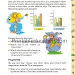 Class 5 five Chart worksheet g
