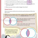 Class 5 five multiple and factor worksheet j