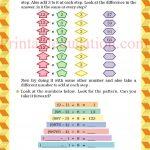 Class 5 five pattern worksheet j