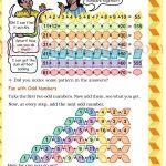 Class 5 five pattern worksheet k