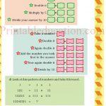 Class 5 five pattern worksheet m