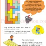 Class 5 five square worksheet m