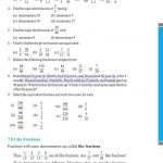 Class 6 six fraction worksheets o