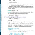Class 6 six fraction worksheets t