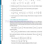 Class 6 six fraction worksheets z