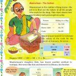 Class five 5 multiplication worksheet a