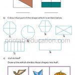 Class four 4 fraction worksheet halves and quarters d