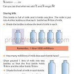 Class four 4 fraction worksheet halves and quarters g