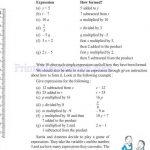 Class six 6 algebra worksheets l