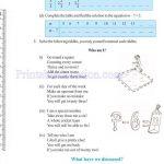 Class six 6 algebra worksheets v