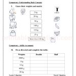 Grade 3 third worksheet for measurement34