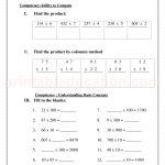 Grade 3 third worksheet for multiplication34