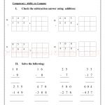 Grade 3 third worksheet for subtraction 31