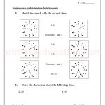 Grade 3 third worksheet for time and clock31