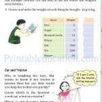 Grade 4 Mass and weight worksheets g