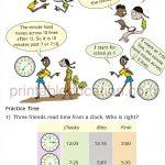 Grade 4 Telling Time and Clock Worksheet b