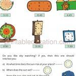 Grade 4 Telling Time and Clock Worksheet c