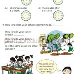 Grade 4 Telling Time and Clock Worksheet e