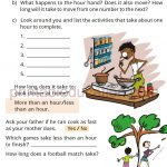 Grade 4 Telling Time and Clock Worksheet g