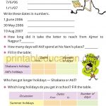 Grade 4 Telling Time and Clock Worksheet m