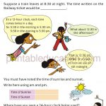 Grade 4 Telling Time and Clock Worksheet q