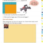 Grade 5 Five Area and Boundary worksheet b