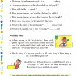 Grade 5 Five Area and Boundary worksheet c