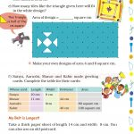 Grade 5 Five Area and Boundary worksheet d