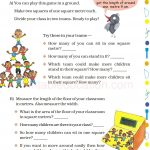 Grade 5 Five Area and Boundary worksheet f