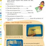 Grade 5 Five Area and Boundary worksheet i