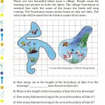 Grade 5 Five Area and Boundary worksheet k