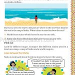 Grade five 5 map and direction worksheet l