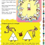 Grade five 5 parts and wholes fraction worksheet d