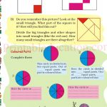 Grade five 5 parts and wholes fraction worksheet m