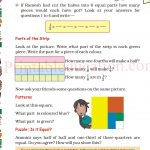 Grade five 5 parts and wholes fraction worksheet o