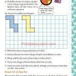 Grade five 5 shapes worksheets b