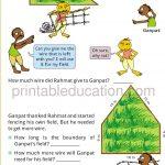 Grade four 4 measurement worksheet b