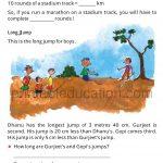 Grade four 4 worksheet long and short d