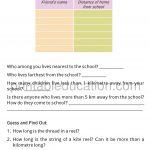 Grade four 4 worksheet long and short h