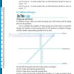 Grade six 6 integers worksheets j