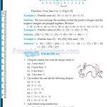 Grade six 6 integers worksheets p