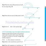 Grade six 6 practical geometry worksheets n
