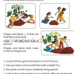 Maths Circle worksheet book for grade four 4 d