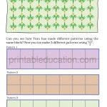 class four 4 pattern worksheet b