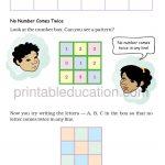 class four 4 pattern worksheet d