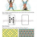 class four 4 pattern worksheet k