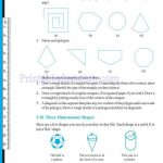 grade six 6 elementary shapes worksheets w